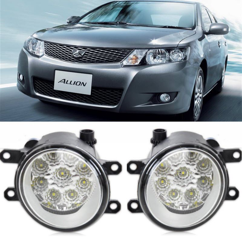 Araba Toyota Allion Için-Styling T260 2010- 9-Pieces Led Cips Sis Far H11 H8 12 V 55 W Halojen Sis Farları