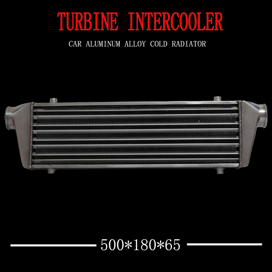 Araba aksesuarları 500*180*65mm Evrensel Turbo Intercooler bar & plaka OD = 2.5 Ön Montaj intercooler