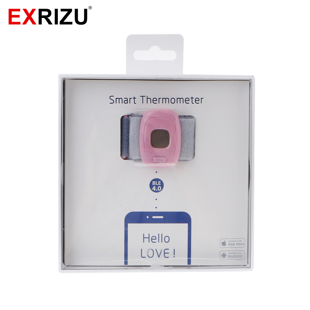EXRIZU Infant Children Intelligent Wearable Electronic Smart Thermometer Bluetooth Baby Sleep Monitor Temperature Meter